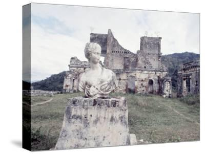 Unidentified Ruins Including Bust of a Woman in Haiti