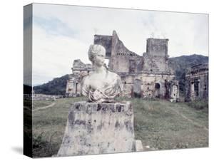 Unidentified Ruins Including Bust of a Woman in Haiti by Lynn Pelham