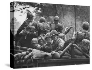 US Trainees at Fort Polk, Undergoing Vietnam Oriented Training, Where They Are About to Be Ambushed by Lynn Pelham