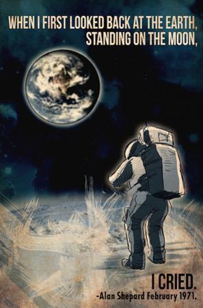 Alan Shepard Moon Walk by Lynx Art Collection