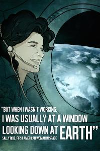 Astronaut Sally Ride Quote by Lynx Art Collection