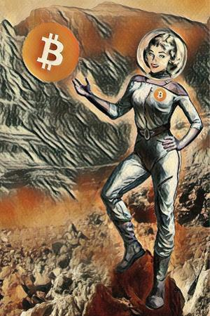 Bitcoin to Mars by Lynx Art Collection