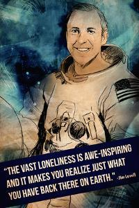 Jim Lovell Quote by Lynx Art Collection