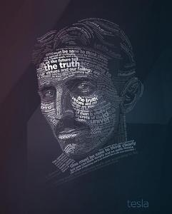 Nikola Tesla Typography Quotes by Lynx Art Collection