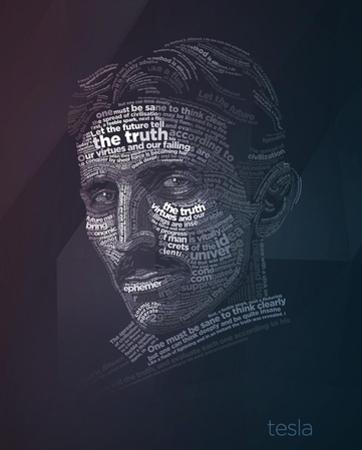 Tesla Typography Quotes by Lynx Art Collection