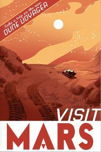 Visit Mars by Lynx Art Collection