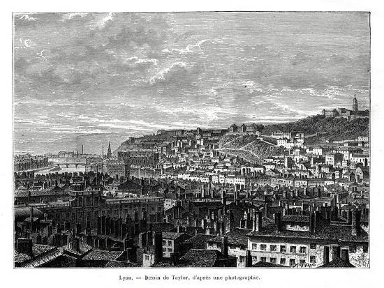 Lyon, France, 19th Century-Taylor-Giclee Print