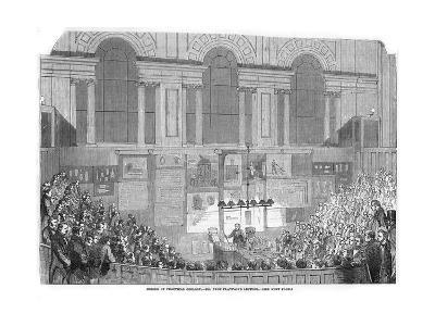 Lyon Playfair, Scottish Chemist and Politician, Lecturing, 1852--Giclee Print
