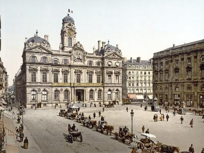 Lyon Town Hall from Place De Terreaux, 1890-1900--Photographic Print