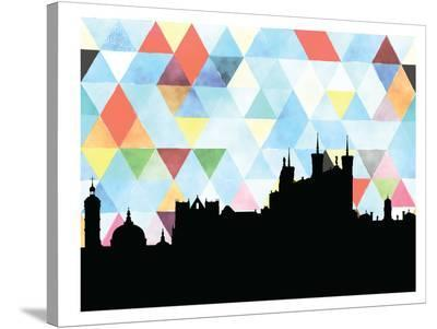 Lyon Triangle-Paperfinch 0-Stretched Canvas Print