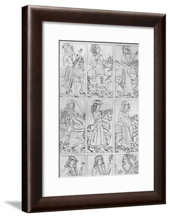 'Lyonnese Playing Cards of the Fifteenth Century', 1903-Jean de Dale-Framed Giclee Print