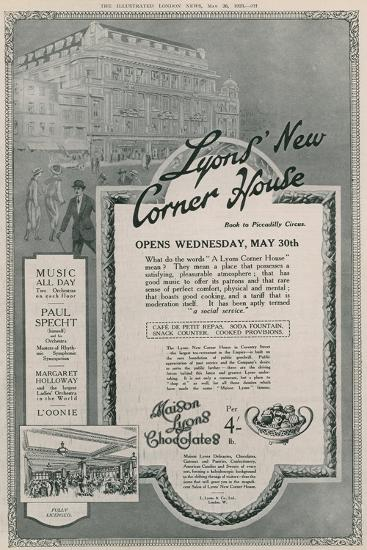 Lyons' New Corner House, Piccadilly Circus, London--Giclee Print