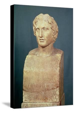 Portrait Bust of Alexander the Great (356-323 BC) Known as the Azara Herm, Greek Replica