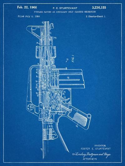 M-16 Rifle Patent--Art Print