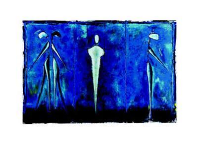 M-2 (Blue)-Heinz Felbermair-Art Print