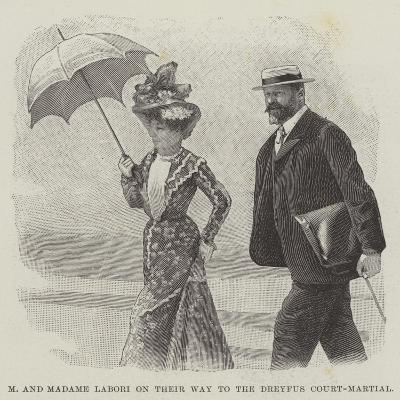 M and Madame Labori on their Way to the Dreyfus Court-Martial--Giclee Print