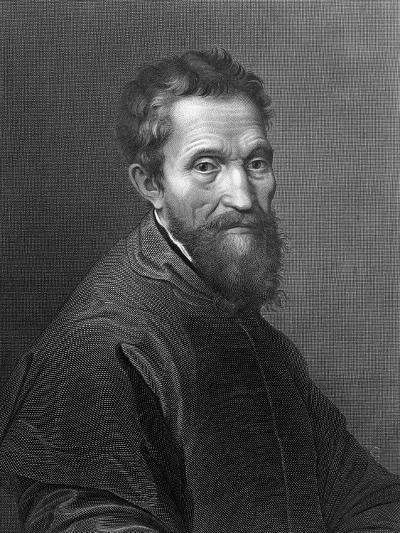 M. Angelo Buonarroti by A. Francois after a Self-Portrait by Michelangelo Buonarroti--Giclee Print