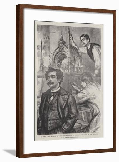 M Binet, the Architect of the Paris Exhibition of 1900, and His Model of the Entrance-Charles Paul Renouard-Framed Giclee Print