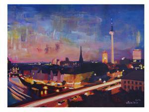 Berlin Skyline Dusk 2 by M Bleichner