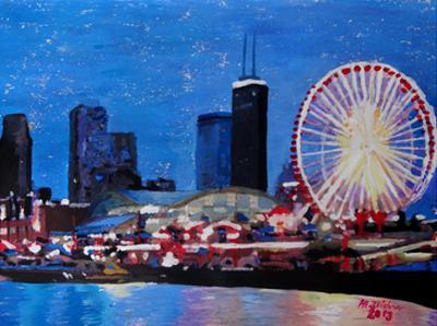 Chicago Wheel by M Bleichner