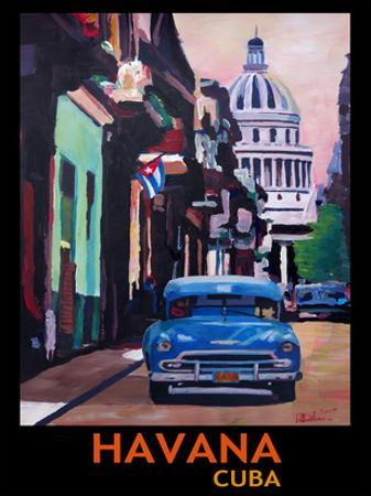 Cuban Oldtimer Street Scene In Havanna Cuba With Buena Vista Feeling Poster 1 by M Bleichner