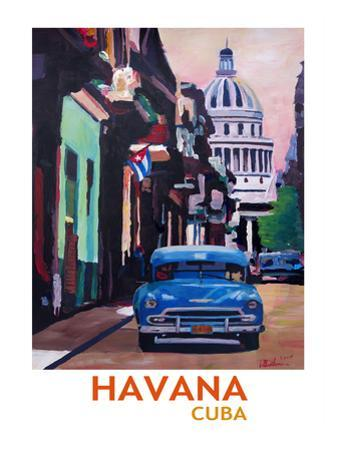 Cuban Oldtimer Street Scene In Havanna Cuba With Buena Vista Feeling Poster 2 by M Bleichner