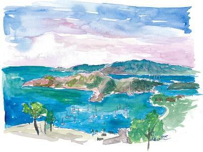 English Harbour Antigua Caribbean Blue