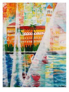 Grand Hotel In Gardone Riviera In Sunlight by M Bleichner