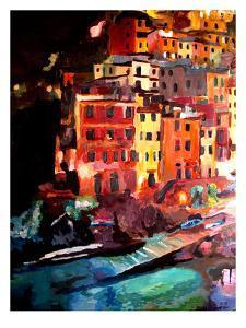 Magic Cinque Terre Night In Riomaggiore by M Bleichner