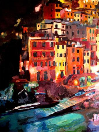 Magic Cinque Terre Night In Riomaggiore by M Bleichner
