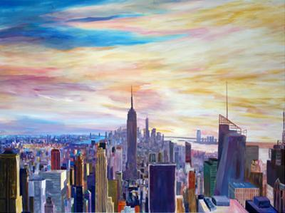 NYC Panorama With WTC Chrysler Empire State by M Bleichner