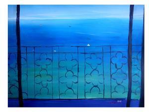 Romantic Balcony In The Mediterranean by M Bleichner