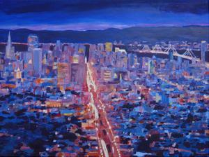 San Francisco Market Street by M Bleichner