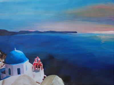 Santorini Greek Island View by M Bleichner
