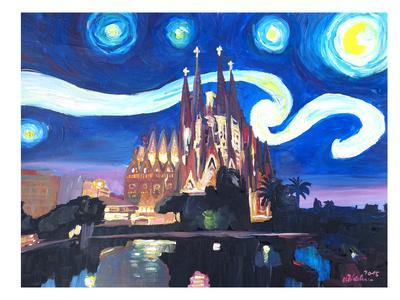Starry Night In Barcelona