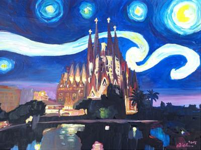 Starry Night In Barcelona by M Bleichner