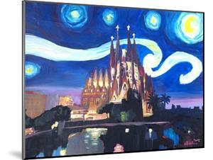 Starry Night In Barcelona by M Bleichner