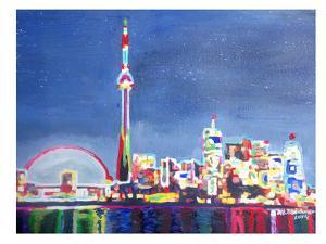 Toronto Neon Shimmering Skyline by M Bleichner