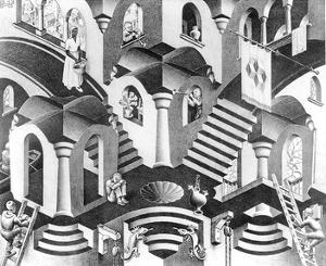 Concave and Convex by M^ C^ Escher