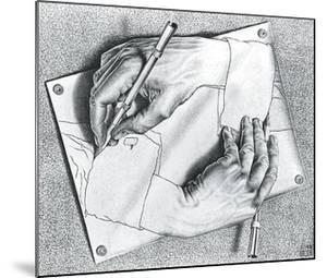 Drawing Hands by M^ C^ Escher