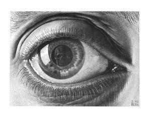 Eye by M^ C^ Escher