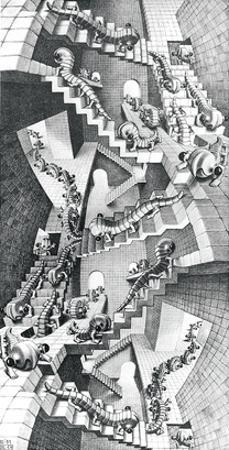 House of Stairs by M^ C^ Escher
