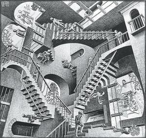 Relativity by M. C. Escher