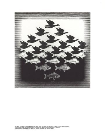 Sky and Water by M^C^ Escher
