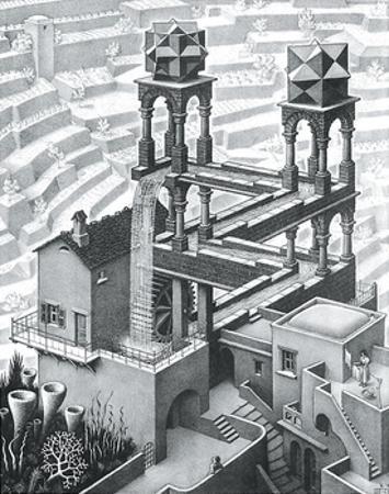 Waterfall by M. C. Escher