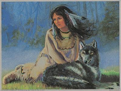 Maiden with Wolf