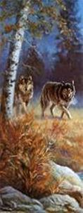 Moonlit Wolves by M^ Caroselli