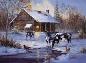 Winter Farm by M^ Caroselli