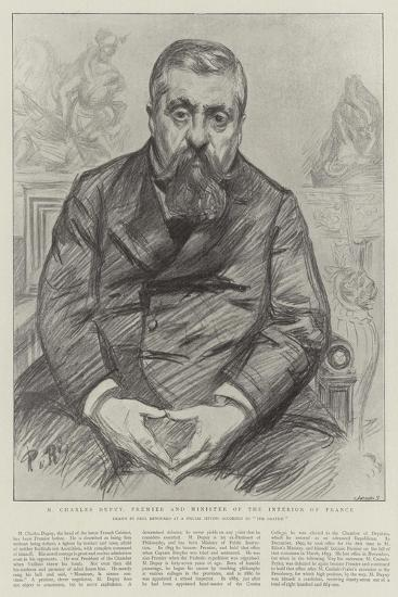 M Charles Dupuy, Premier and Minister of the Interior of France-Charles Paul Renouard-Giclee Print