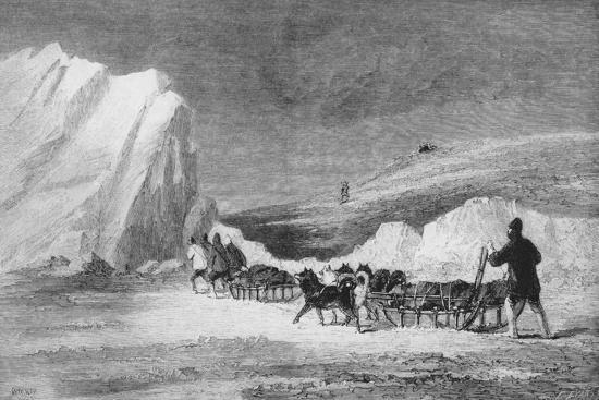 'M'cLintock's Search Party Finding One of Franlin's Cairns at Cape Herschel', c1859-Unknown-Giclee Print